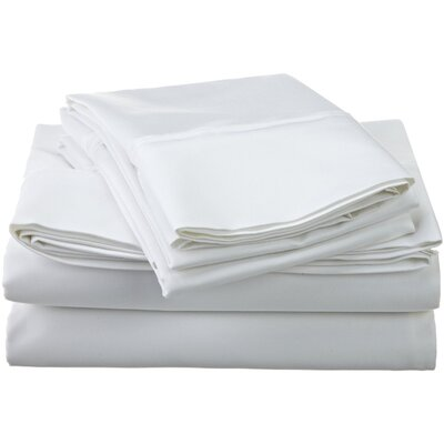 1200 Thread Count Egyptian-Quality Cotton Sheet Set Size: California King, Color: White