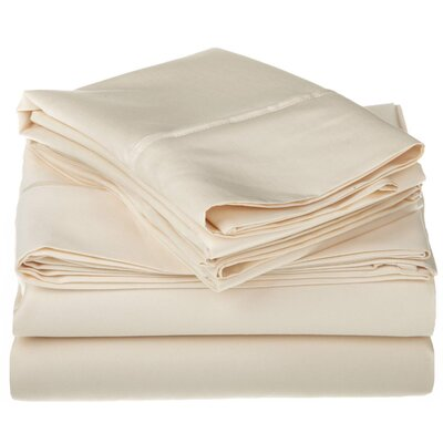 1200 Thread Count Egyptian-Quality Cotton Sheet Set Size: California King, Color: Ivory