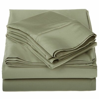 1200 Thread Count Egyptian-Quality Cotton Sheet Set Size: Full, Color: Sage