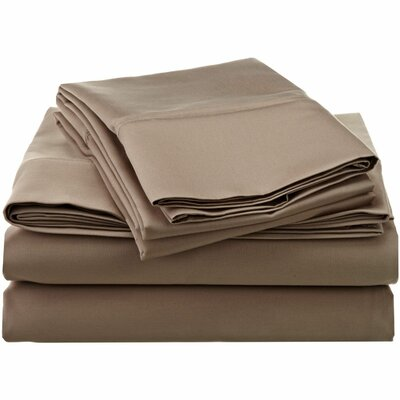 1200 Thread Count Egyptian-Quality Cotton Sheet Set Size: Full, Color: Taupe