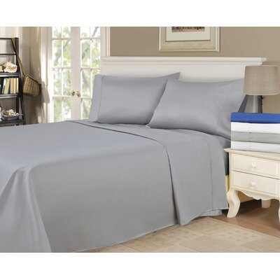 900 Thread Count 100% Cotton Sheet Set Size: Queen, Color: Grey