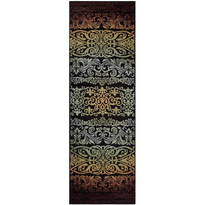 Holcomb Black/Red Area Rug Rug Size: Runner 27 x 8