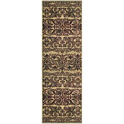 Behan Beige/Brown Area Rug Rug Size: Runner 27 x 8