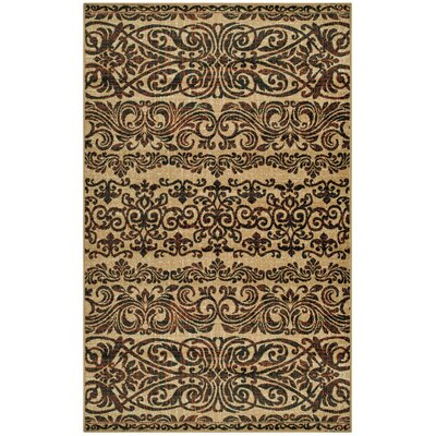 Behan Beige/Brown Area Rug Rug Size: Rectangle 5 x 8