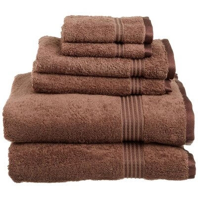 Simple Luxury Egyptian Cotton 600gsm 6 Piece Towel Set - Color: Mocha at Sears.com