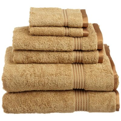 Simple Luxury Egyptian Cotton 600gsm 6 Piece Towel Set - Color: Toast at Sears.com