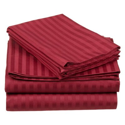 simple luxury 650 thread count egyptian cotton stripe sheet