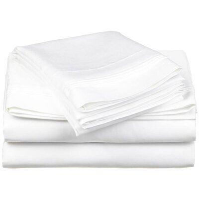 Simple Luxury Cotton Rich 800 Thread Count Solid Sheet Set - Color: White, Size: Split King at Sears.com