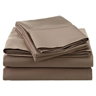 Simple Luxury Cotton Rich 800 Thread Count Solid Sheet Set - Color: Taupe, Size: Split King at Sears.com
