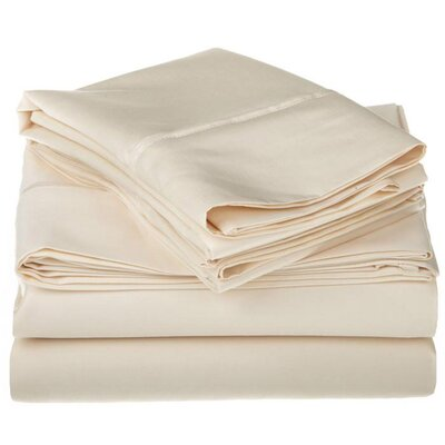 Simple Luxury Cotton Rich 800 Thread Count Solid Sheet Set - Color: Ivory, Size: Split King at Sears.com