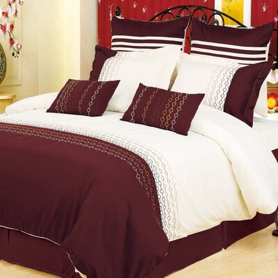 Impressions Vanessa 3 Piece Reversible Duvet Cover Set Size: King