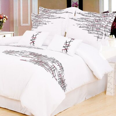 Impressions Lily 3 Piece Reversible Duvet Cover Set Size: King