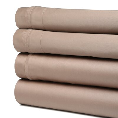 Patric 1500 Thread Count 100% Egyptian-Quality Cotton Sheet Set Size: King, Color: Taupe