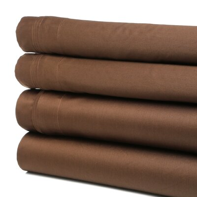 Tipton 1500 Thread Count 100% Egyptian-Quality Cotton Sheet Set Size: California King, Color: Mocha