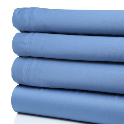 Patric 1500 Thread Count 100% Egyptian-Quality Cotton Sheet Set Color: Medium Blue, Size: Queen
