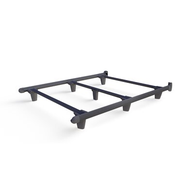 Colm Bed Frame Color: Gray, Size: 7.5 H x 60 W x 77 D