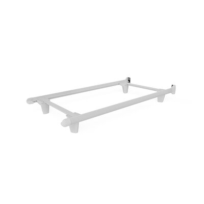Colm Bed Frame Size: 7.5 H x 39 W x 73 D, Color: White