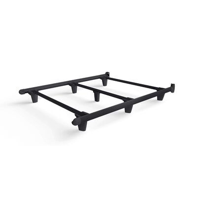 Colm Bed Frame Color: Black, Size: 7.5 H x 60 W x 77 D