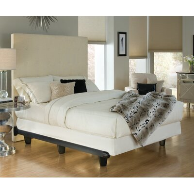 Colm Bed Frame Color: Black, Size: 7.5 H x 54 W x 73 D