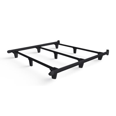 Colm Bed Frame Color: Black, Size: 7.5 H x 72 W x 80 D