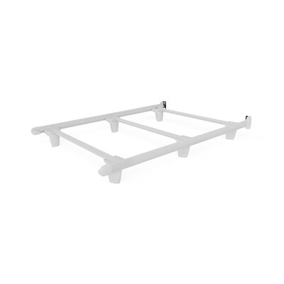 Colm Bed Frame Color: White, Size: 7.5 H x 54 W x 73 D