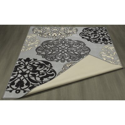 Somerford Abstract Rubberback Gray Indoor/Outdoor Area Rug