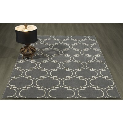 Somerford Rubberback Gray Indoor/Outdoor Area Rug