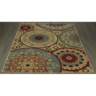 Arline Rubberback Beige Indoor/Outdoor Soft Area Rug Rug Size: 33 x 5