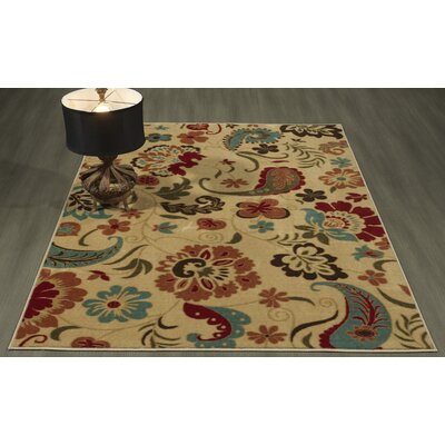 Arline Rubberback Beige Indoor/Outdoor Area Rug