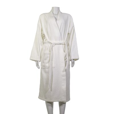 Alric Turkish Cotton Kimono Bathrobe Size: Small/Medium, Color: Ivory