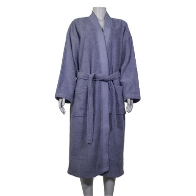 Alric Turkish Cotton Kimono Bathrobe Size: Large/X-Large, Color: Slate Gray