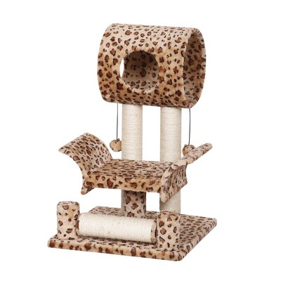 28 Mugsy Leopard Print Cat Tree