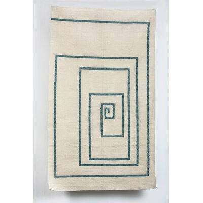 Cosme Spiral Wool Beige Indoor/Outdoor Area Rug Rug Size: 6 x 9