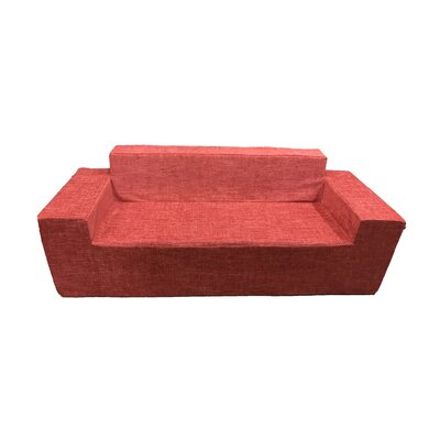 Edmiston Sofa with Zipper Fabric: Red