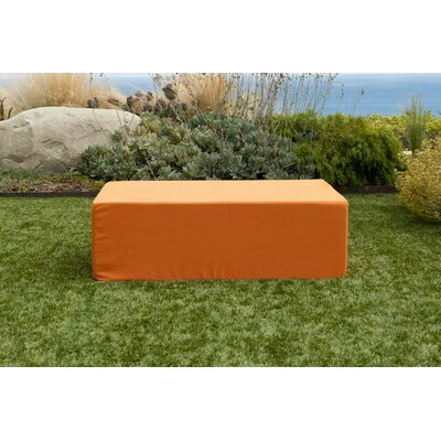 Acheson Ottoman Fabric: Orange