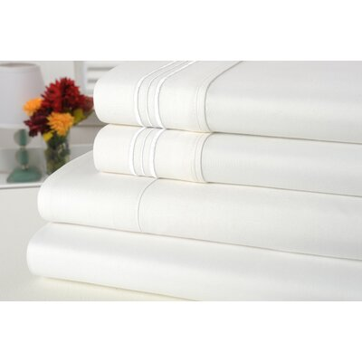 Alonzo Modern Rayon from Bamboo Egyptian Comfort Sheet Set Size: Full, Color: White