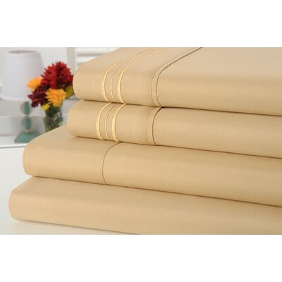 Alonzo Modern Rayon from Bamboo Egyptian Comfort Sheet Set Size: Full, Color: Linen