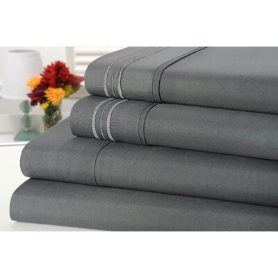 Alonzo Modern Rayon from Bamboo Egyptian Comfort 1000 Thread Count Sheet Set Color: Gray