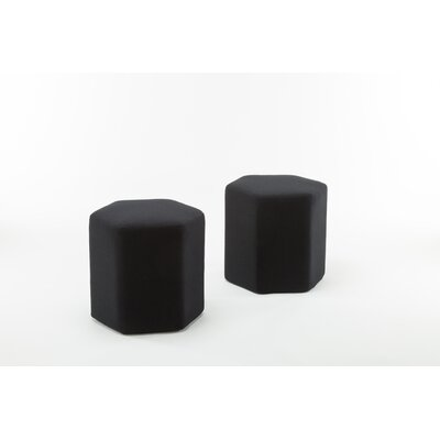 Royalton Hexagon Bench Ottoman Upholstery: Black