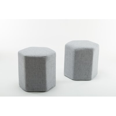 Royalton Hexagon Bench Ottoman Upholstery: Light Gray
