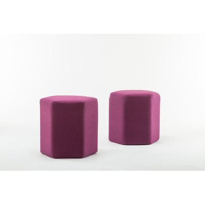 Royalton Hexagon Bench Ottoman Upholstery: Purple
