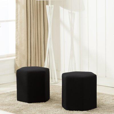 Royalton Ottoman Upholstery: Black