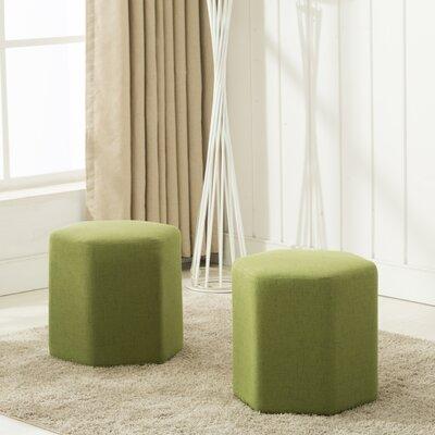 Royalton Ottoman Upholstery: Green