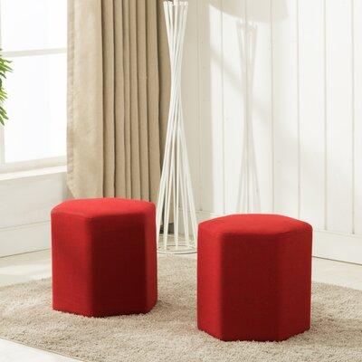 Royalton Ottoman Upholstery: Red