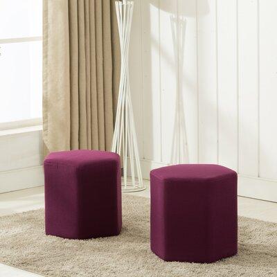 Royalton Ottoman Upholstery: Purple