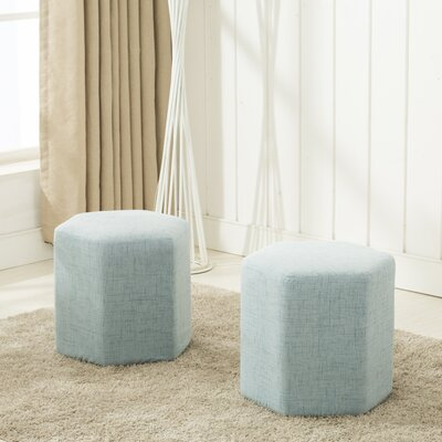 Royalton Ottoman Upholstery: Light Blue