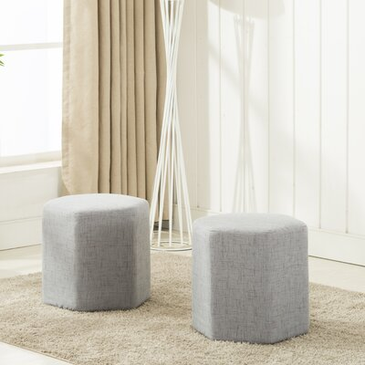 Royalton Ottoman Upholstery: Light Gray