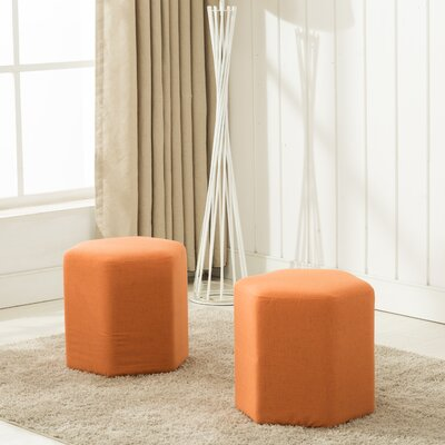 Royalton Ottoman Upholstery: Orange