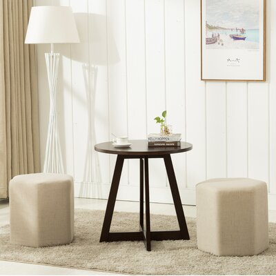 Horrocks 3 Piece Hexagon Ottoman Set Upholstery: Beige