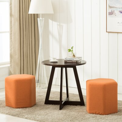 Horrocks 3 Piece Hexagon Ottoman Set Upholstery: Orange